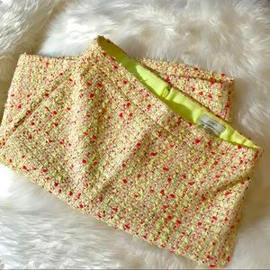 J. Crew no. 2 neon tweed pencil skirt
